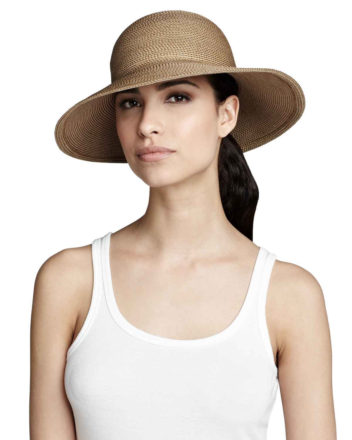 Lyst - Eric Javits Squishee Iv Hat Natural in White 87bf3e1cb16