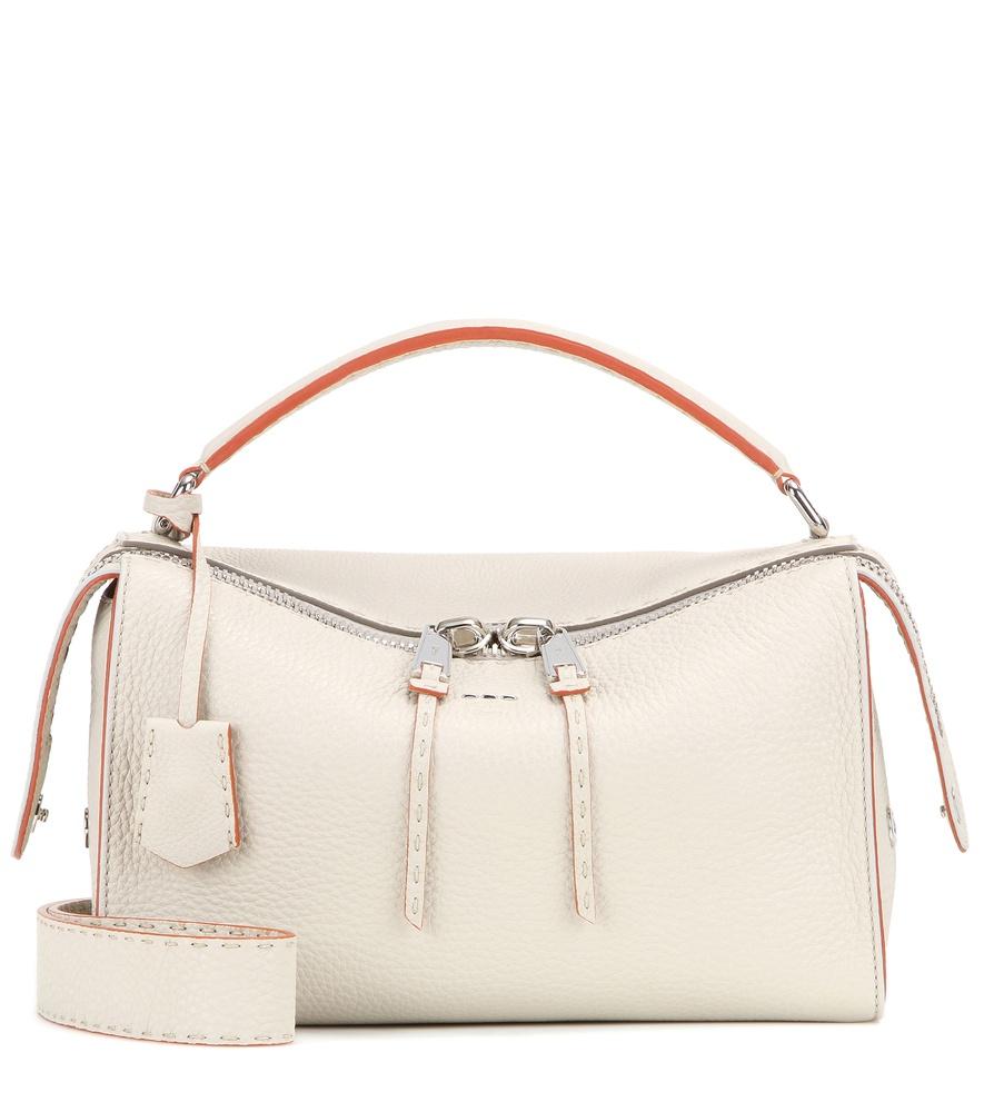 7b002c0340eb Lyst - Fendi Lei Selleria Leather Shoulder Bag in White