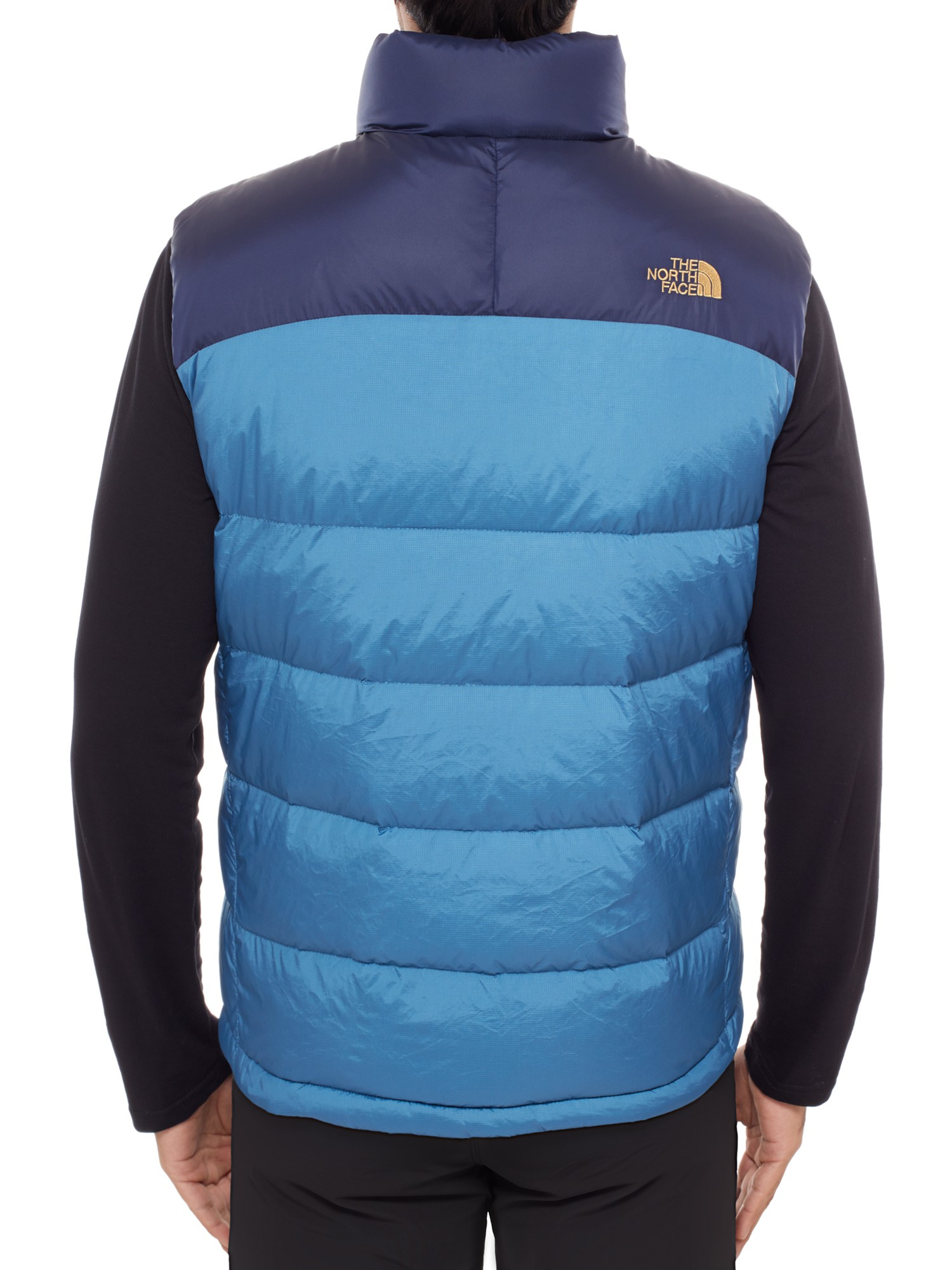 0d182bfaa3 ... new style the north face nuptse down mens gilet in blue for men lyst  8c6b9 5efe3
