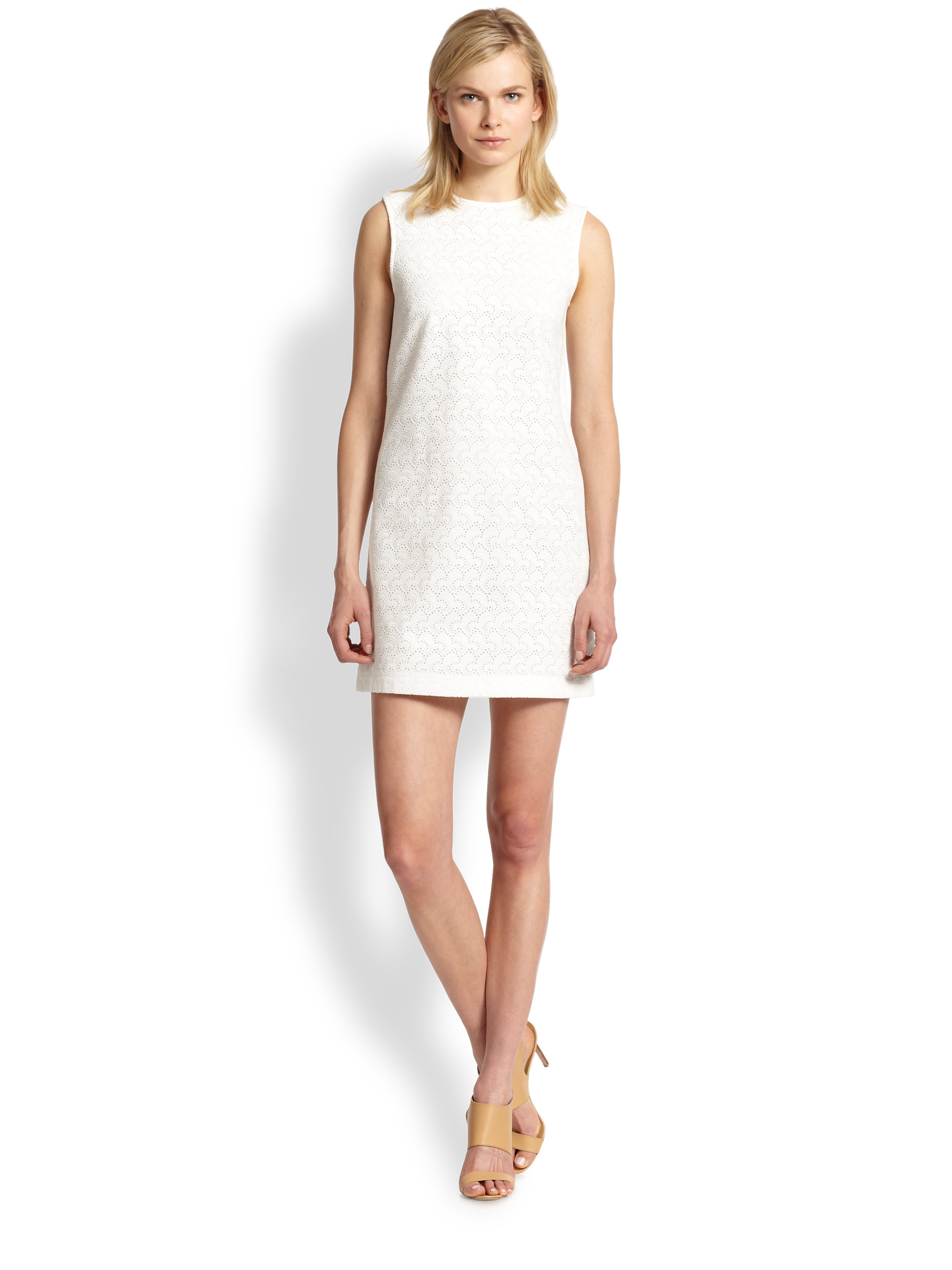 White eyelet dress - results from brands Calvin Klein, Ralph Lauren, Bonnie Jean, products like SL Fashions Soutache Eyelet Sheath Dress - White 14,