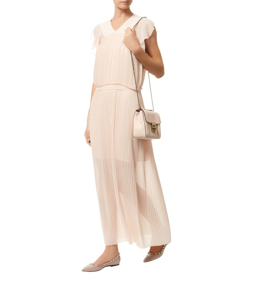 36117ebd8c See By Chloé Pleated Maxi Dress in Pink - Lyst
