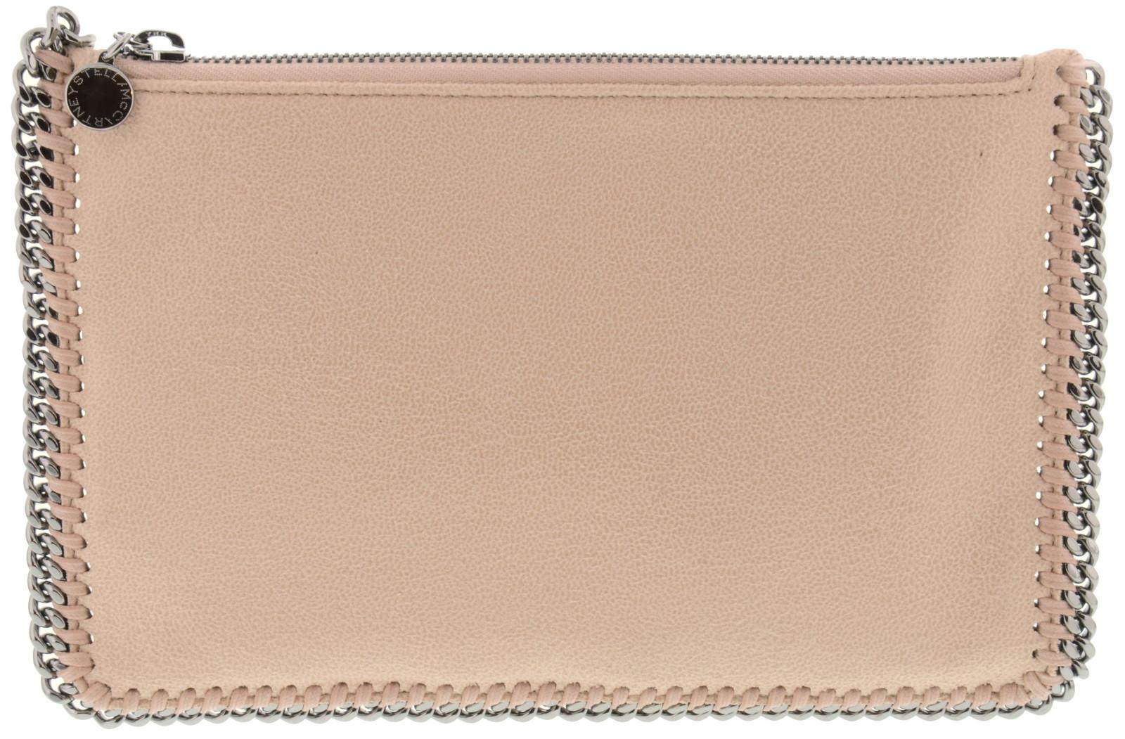 Pochette Soirée Beige : Stella mccartney pochette colore cipria chiusura zip dime