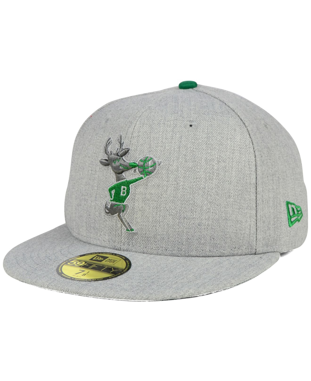 size 40 a0698 2aef2 Lyst - KTZ Milwaukee Bucks Heather League Basic 59fifty Cap in Gray ...
