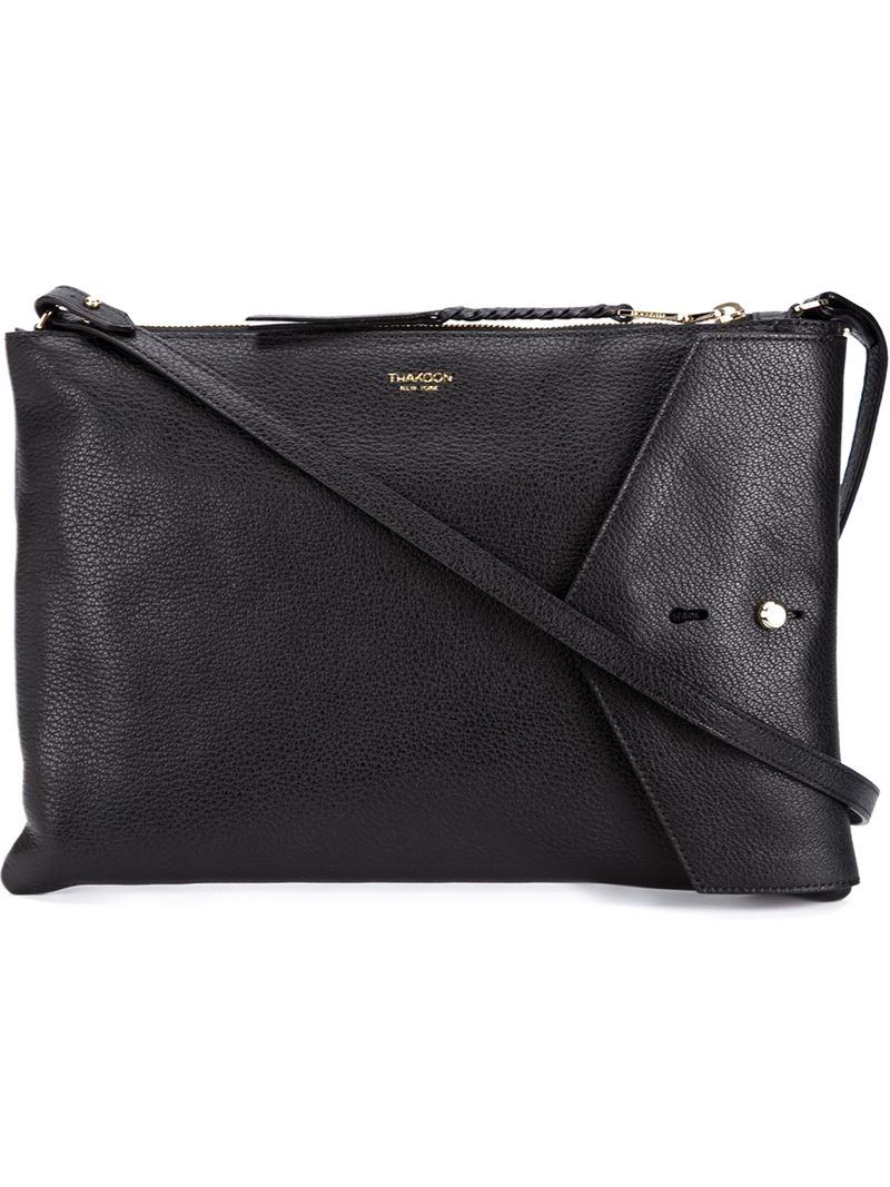 Thakoon 'Downing' Crossbody Bag in Black