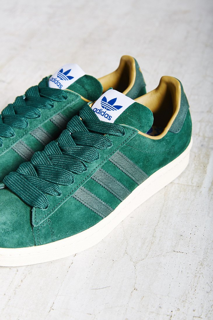 new concept 730fc 26266 Lyst - adidas Originals Campus 80S Suede Sneaker in Green
