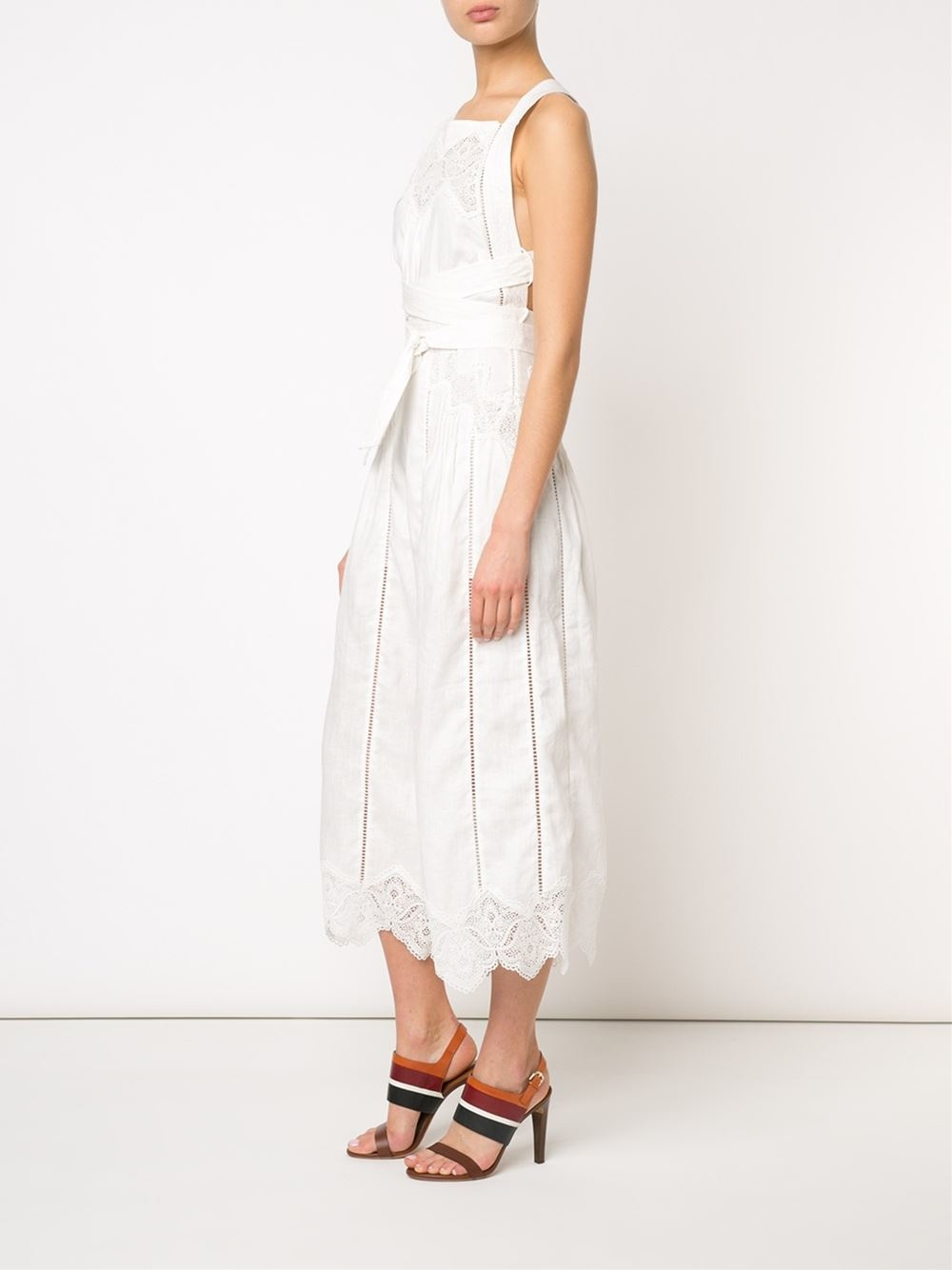 583077a8436 Zimmermann  empire Virtue  Jumpsuit in White - Lyst