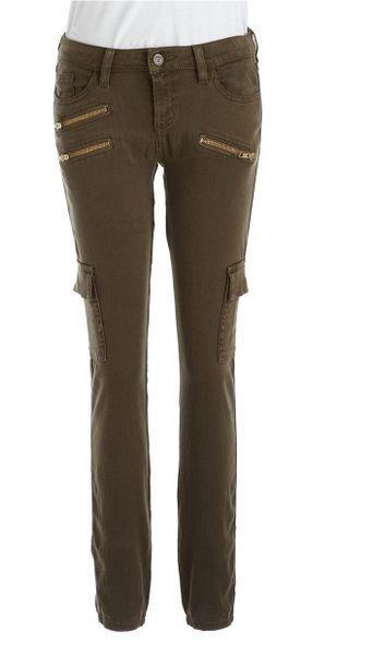 Innovative Womens Green Skinny Cargo Pants  Pi Pants