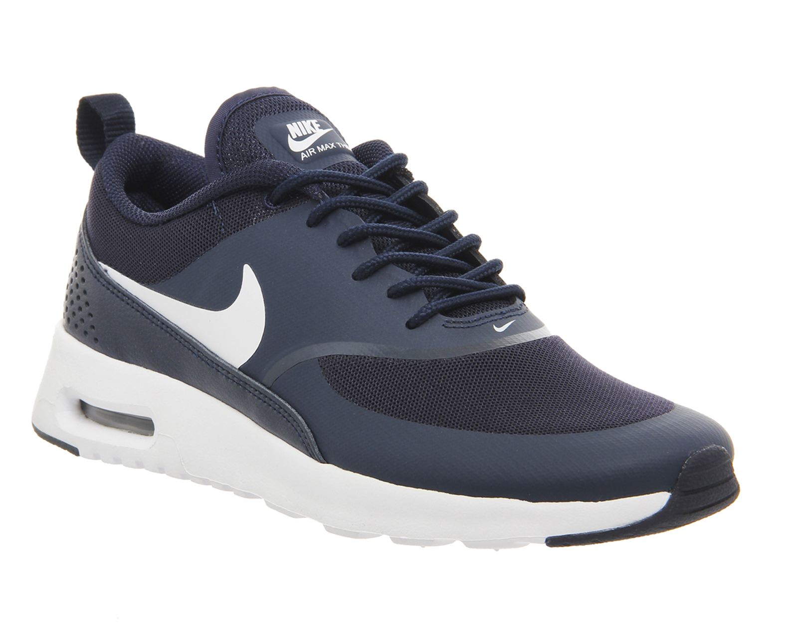 nike air max thea low top sneakers in blue white lyst. Black Bedroom Furniture Sets. Home Design Ideas