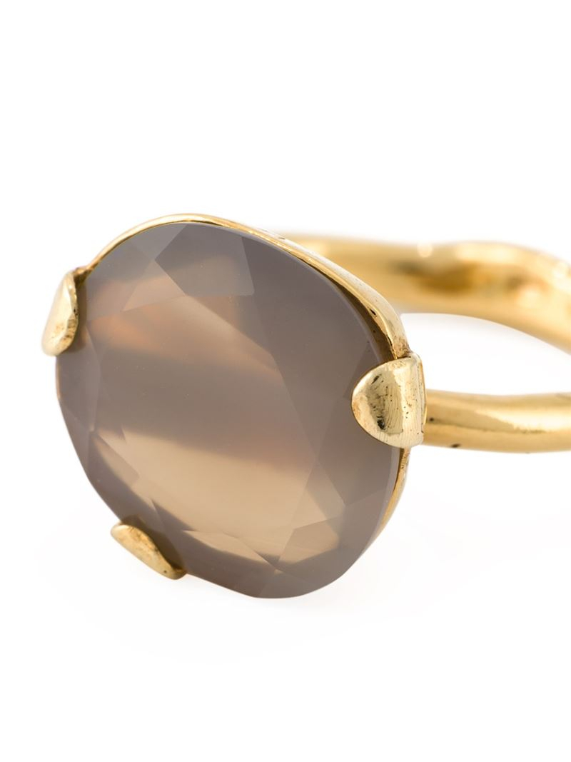 Wouters Amp Hendrix Grey Agate Ring In Metallic Lyst