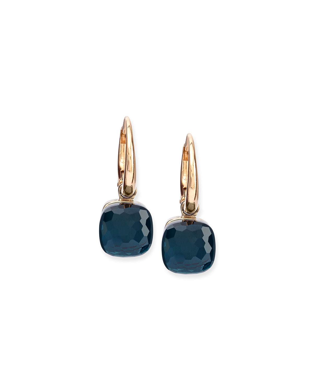 Pomellato Nudo London Blue Topaz Small Drop Earrings In