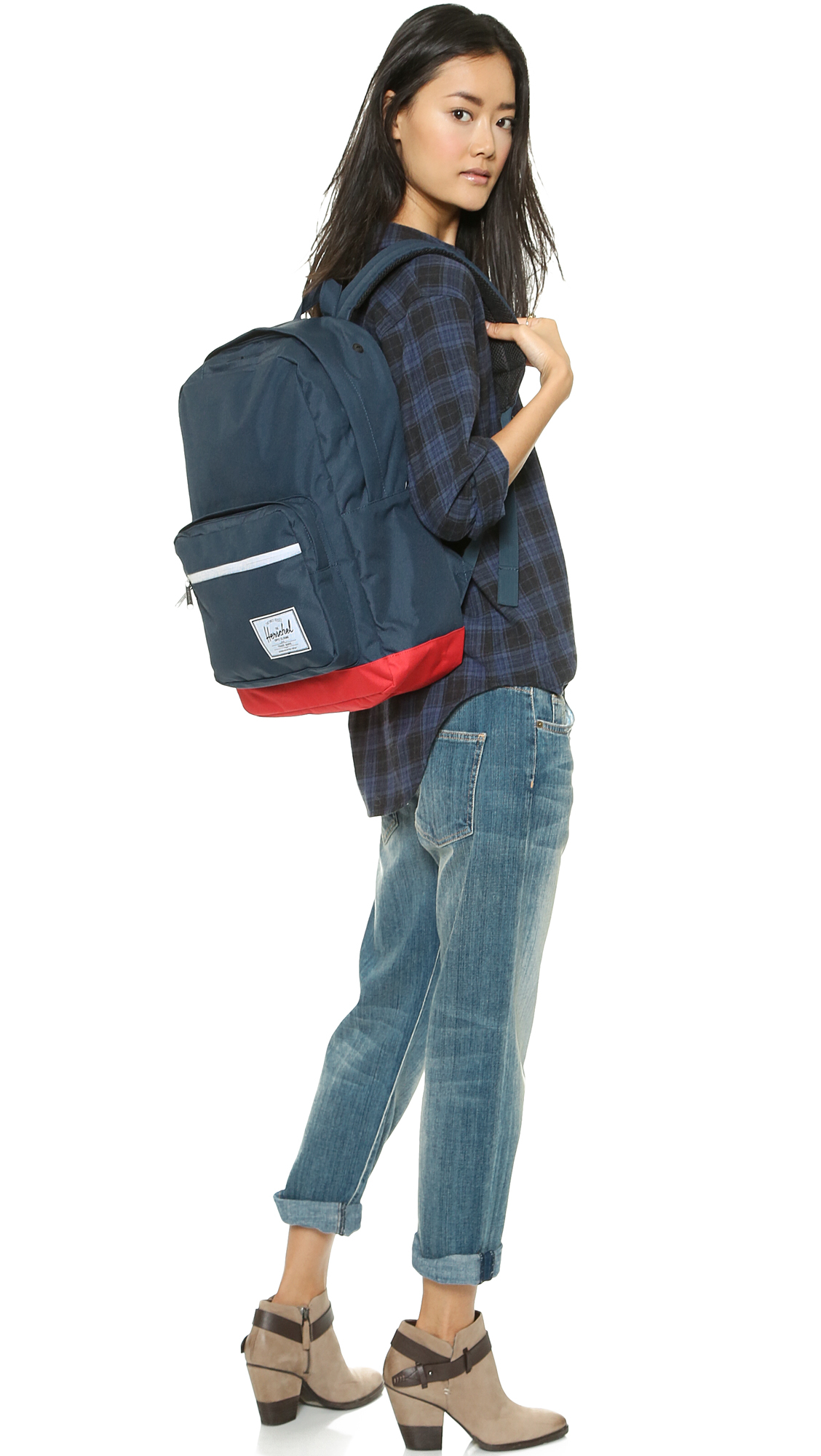 1bb5a6a609b Herschel Pop Quiz Backpack Navy Red Zip - Daftar Harga Terlengkap ...