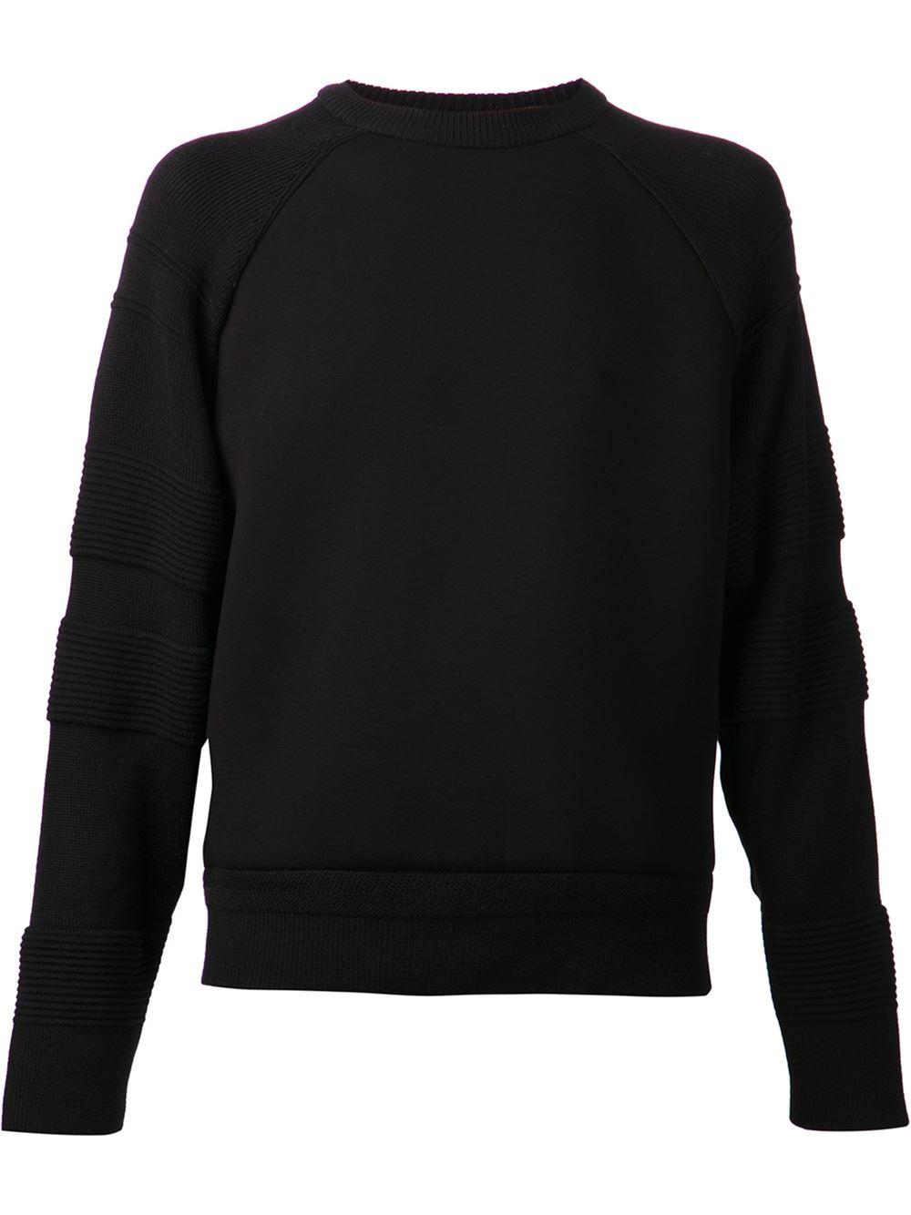 Juun.j Long Sleeve T-Shirt in Black for Men