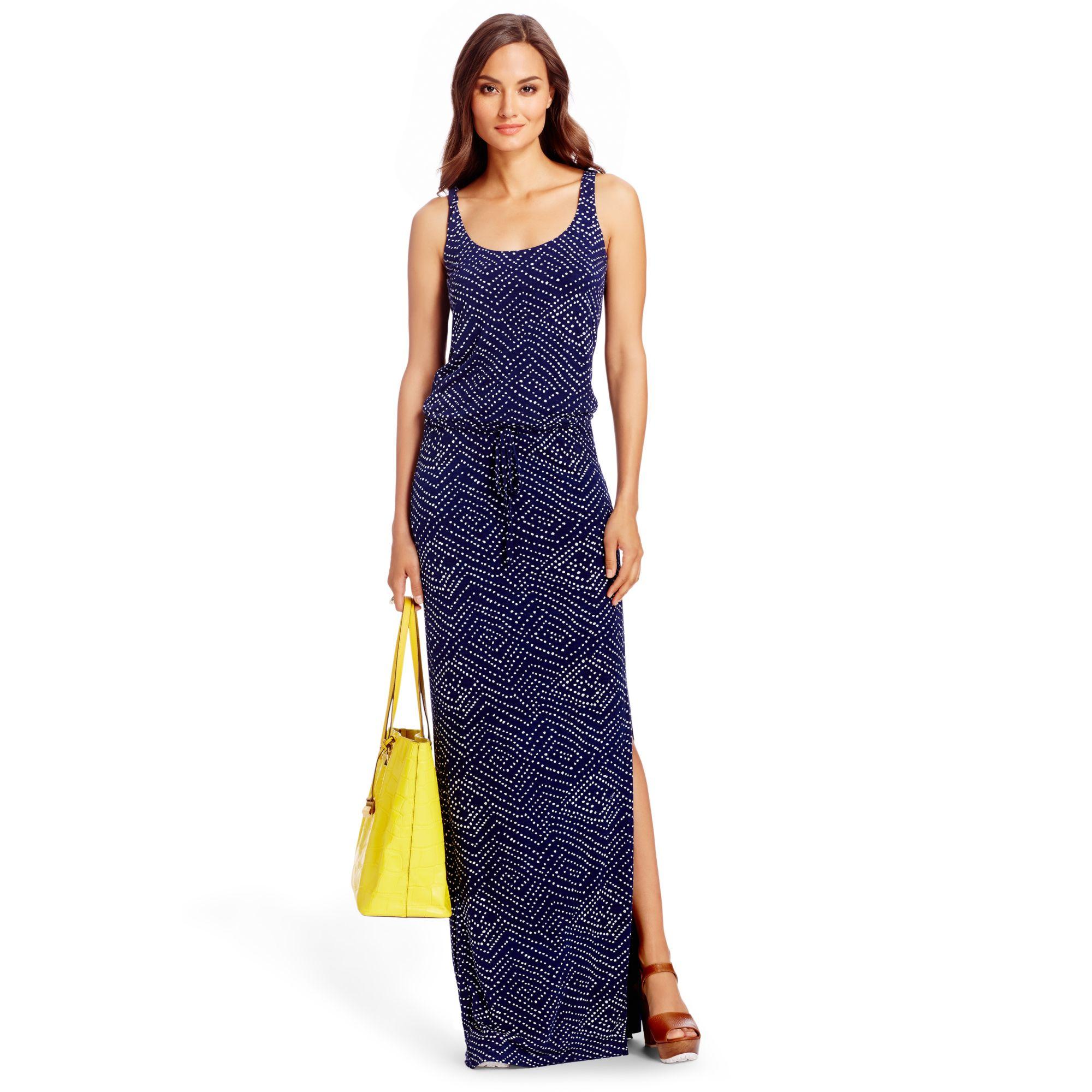 Diane von furstenberg Dvf Sophie Jersey Maxi Dress in Blue  Lyst