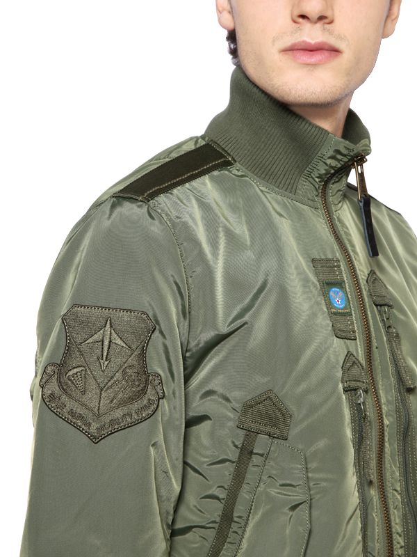 Jacket Bomber Men Patches Alpha Prop Nylon Industries Green For In AvUOR