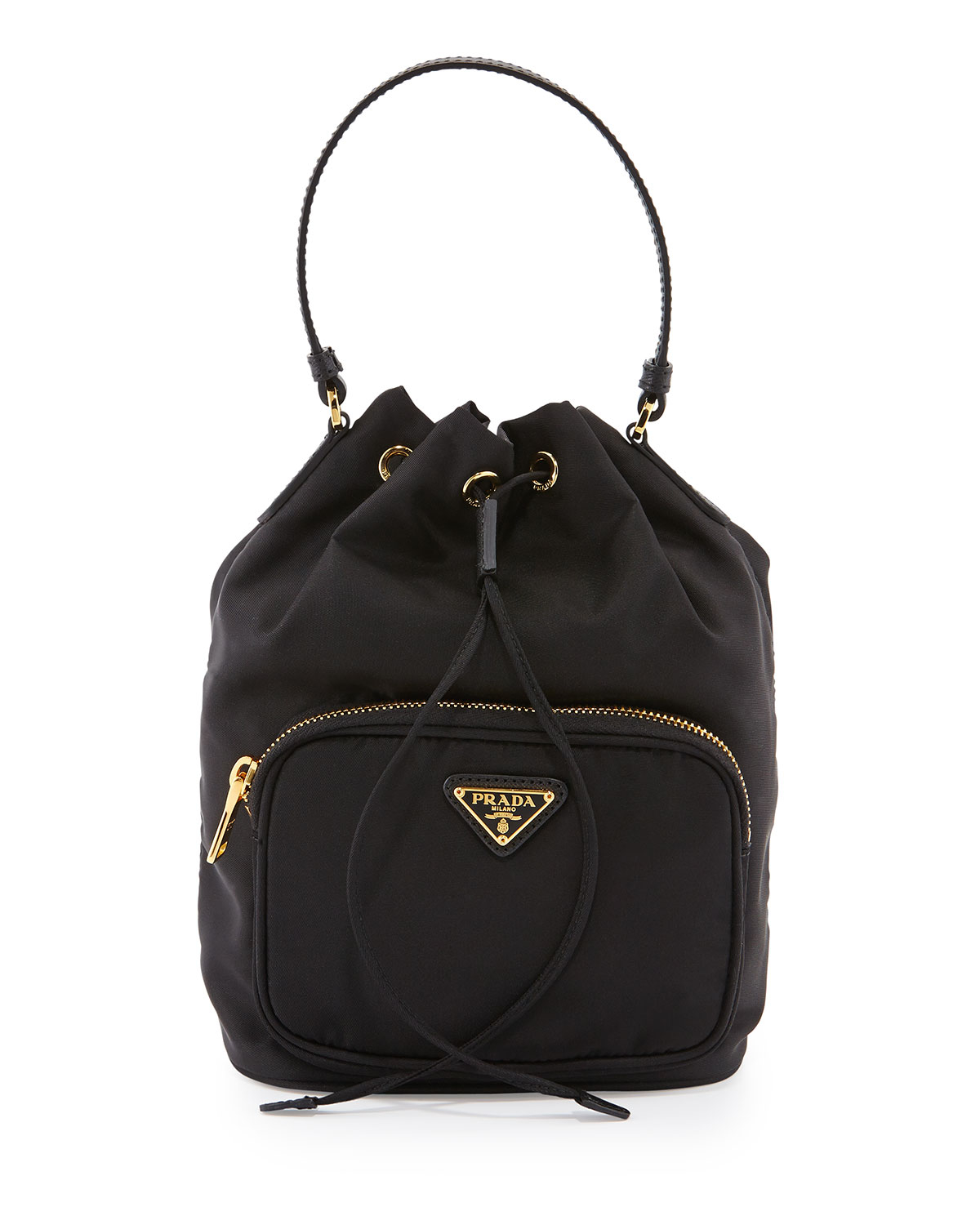 prada bag price - Prada Tessuto Mini Bucket Crossbody Bag in Black | Lyst