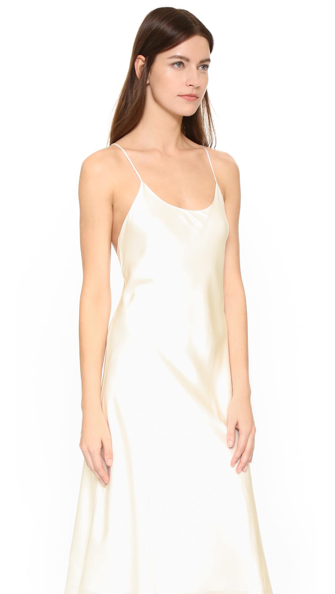 3a857b42cf Lyst - Olivia Von Halle Remy Nightdress in White