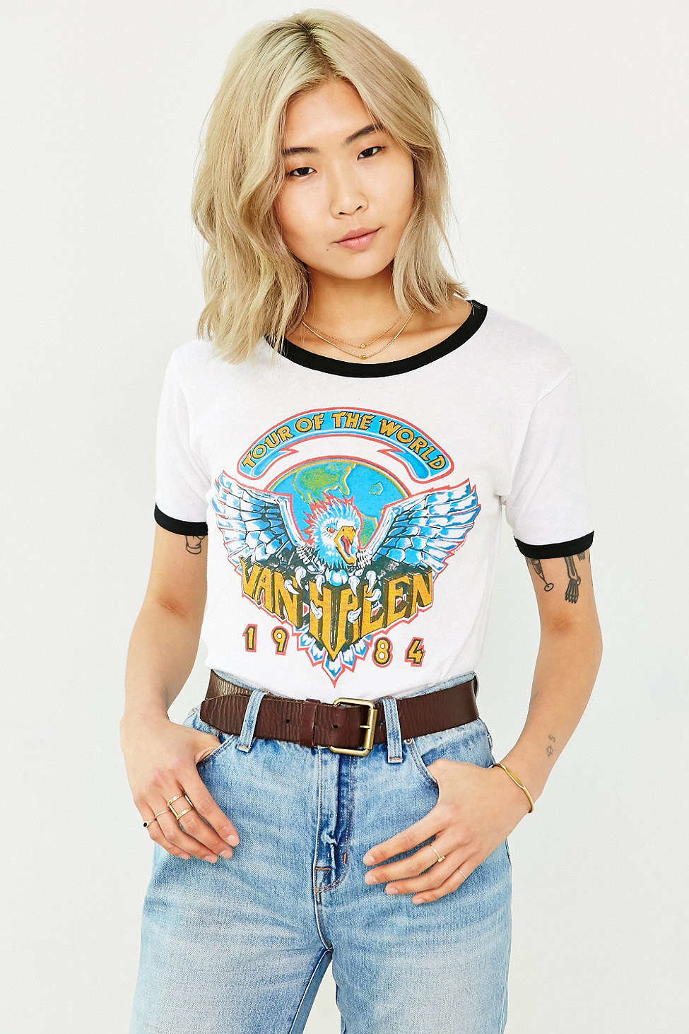 Lyst Urban Outfitters Van Halen World Tour Ringer Tee In