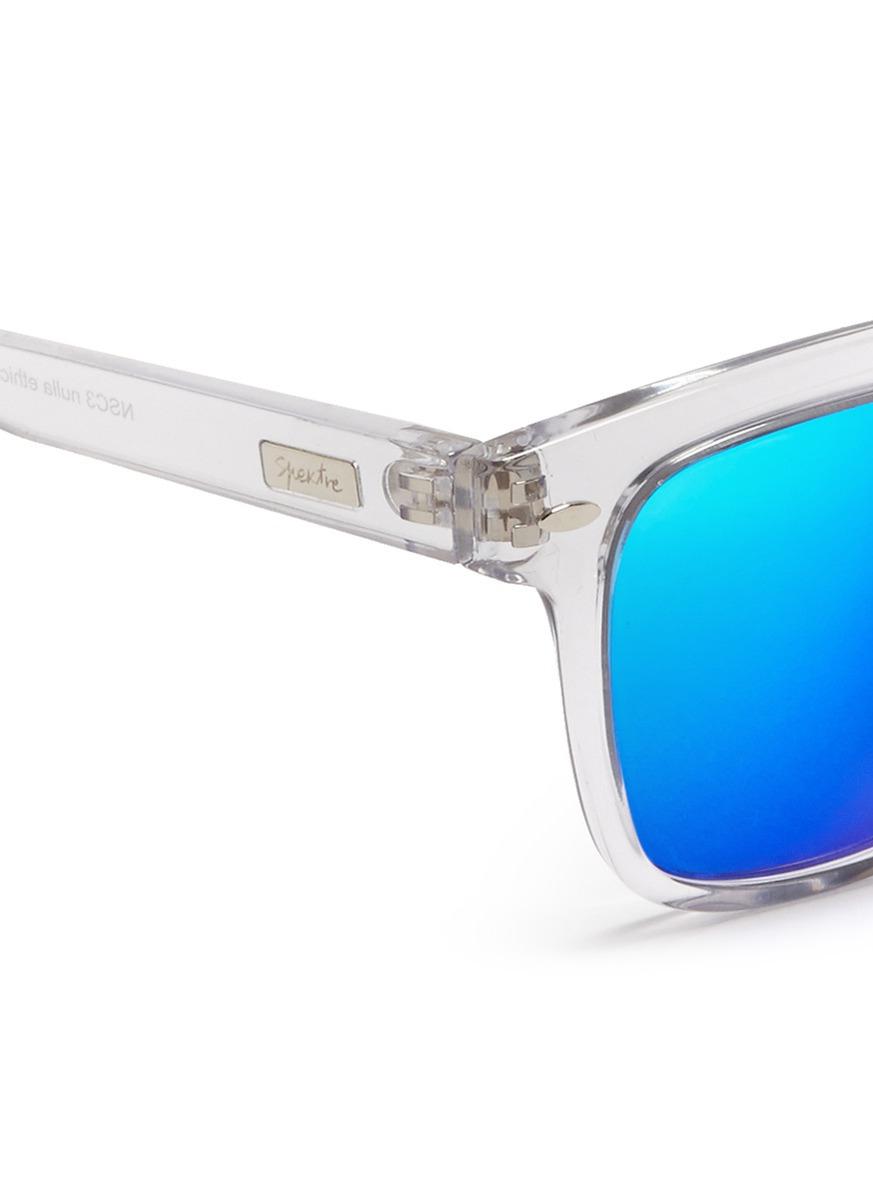 80100e6f539 Lyst - Spektre Clear Acetate Mirror Lenses Sunglasses in Blue