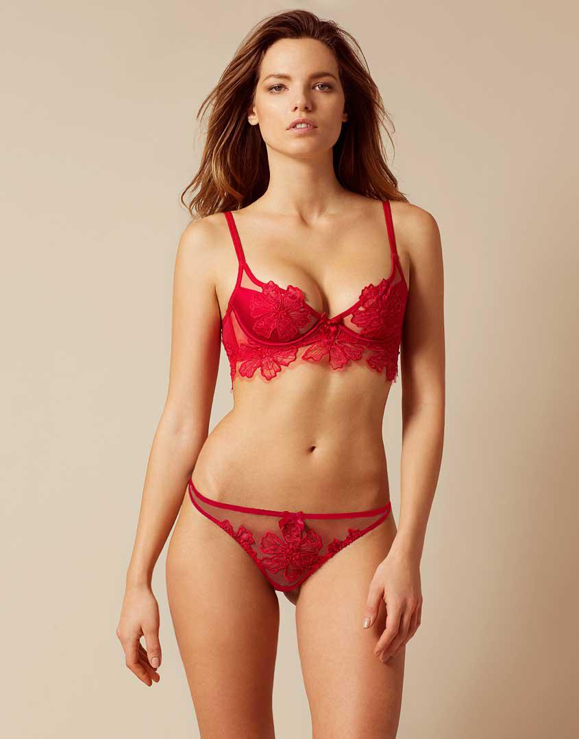 Lyst - Agent Provocateur Seraphina Thong Red in Red b8aefff29