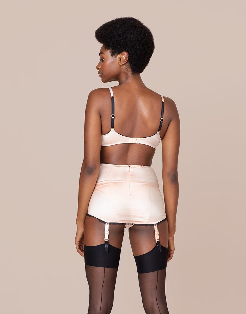 Lyst - Agent Provocateur Felinda Fifties Style Suspender Nude And Black in  Black c27ff341b