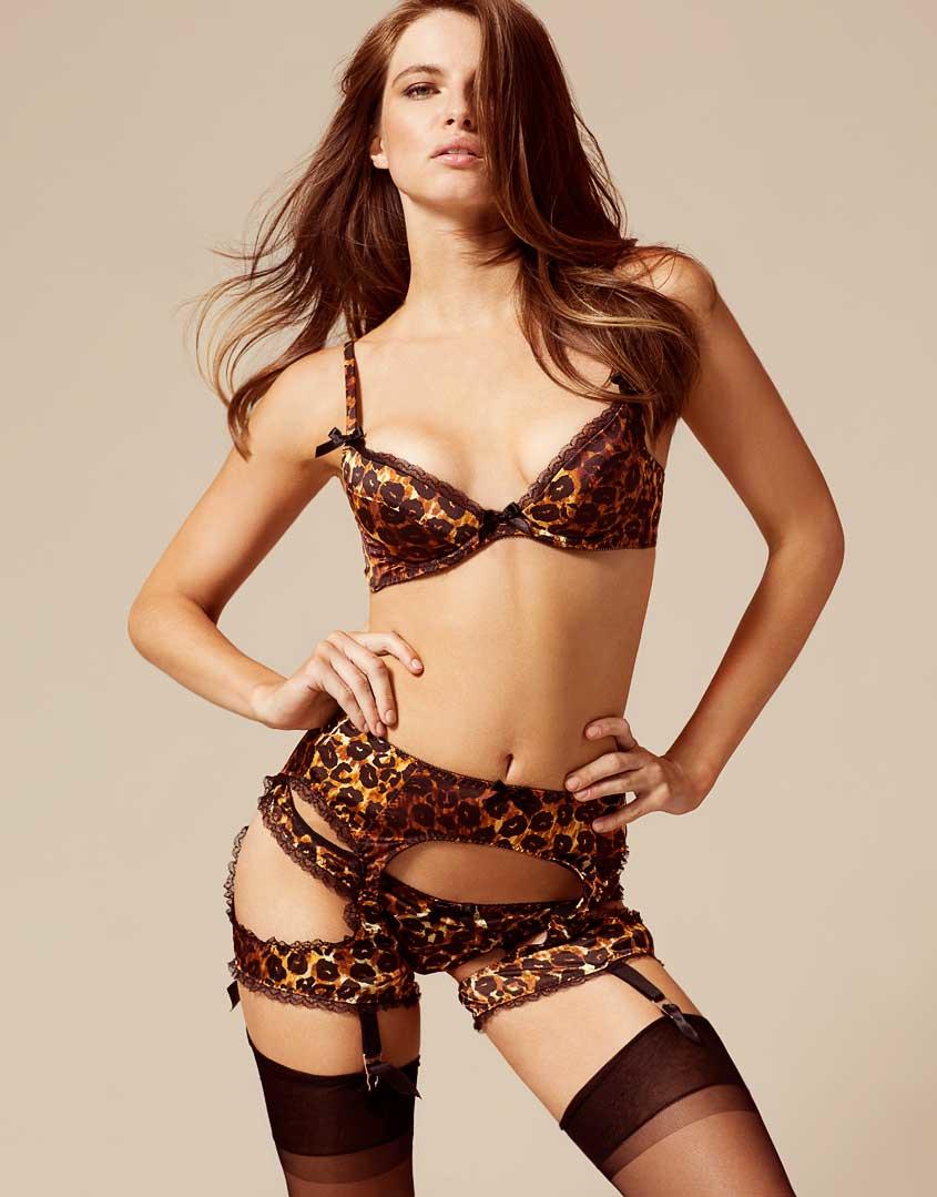 9bb61198aea Agent Provocateur Felinda Suspender Leopard in Gray - Lyst