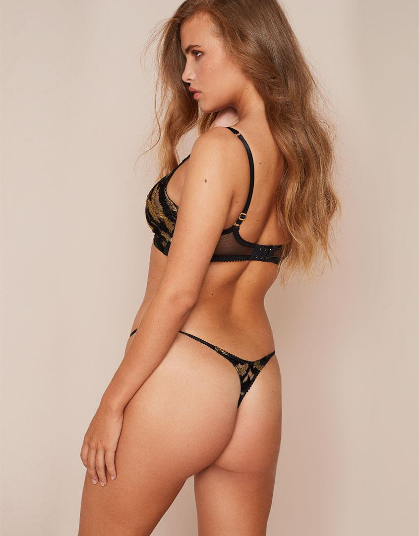 b03e888e3ab Agent Provocateur Genevieve Thong Black And Gold in Black - Lyst