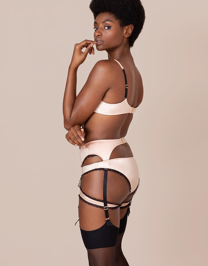 84cb0bdb27238 Agent Provocateur Felinda Suspender Nude And Black in Natural - Lyst