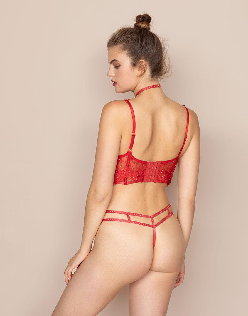 Agent Provocateur Davinah Brief Red in Red - Save 25% - Lyst 14e90dbd7
