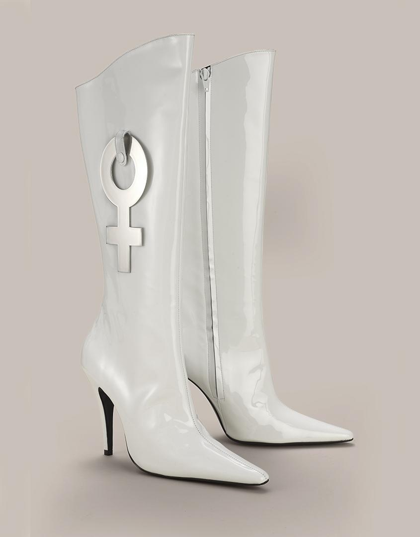 269c765a478 Lyst - Agent Provocateur Monike Boot White in White