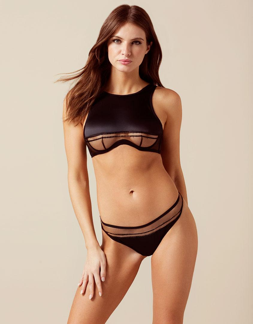 Agent Provocateur Eaden Thong Black in Black - Lyst 7e0e62748
