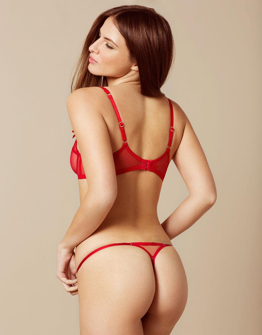 Agent Provocateur Lorna Thong Red And Pink in Red - Lyst 86f07d77f