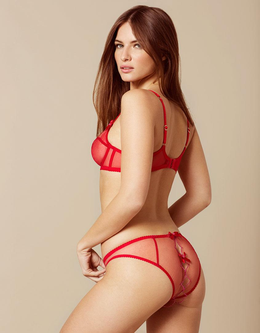 50ea2620d4f89 Agent Provocateur Lorna Ouvert Red And Pink in Red - Lyst