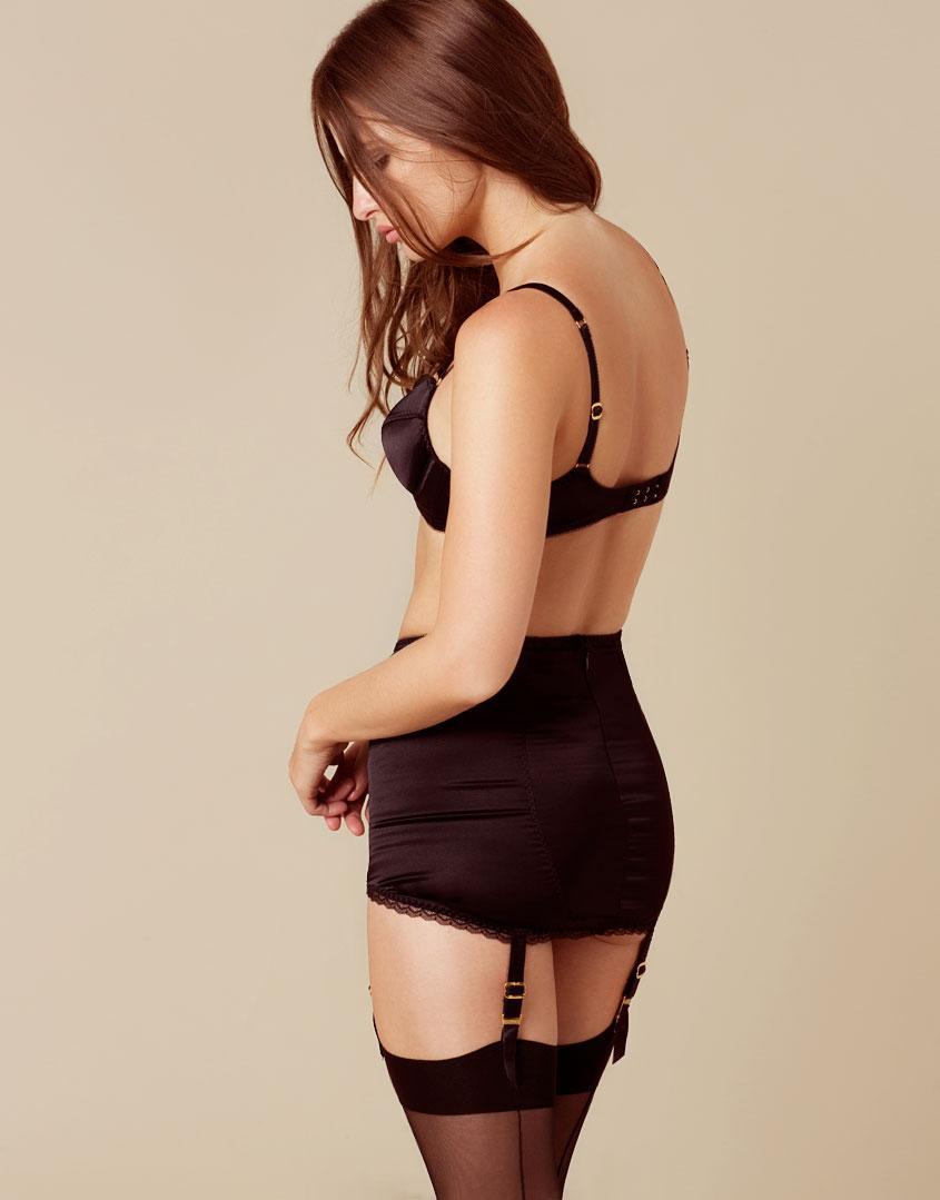 7039081ca3 Lyst - Agent Provocateur Felinda Fifties Style Suspender Black in Black
