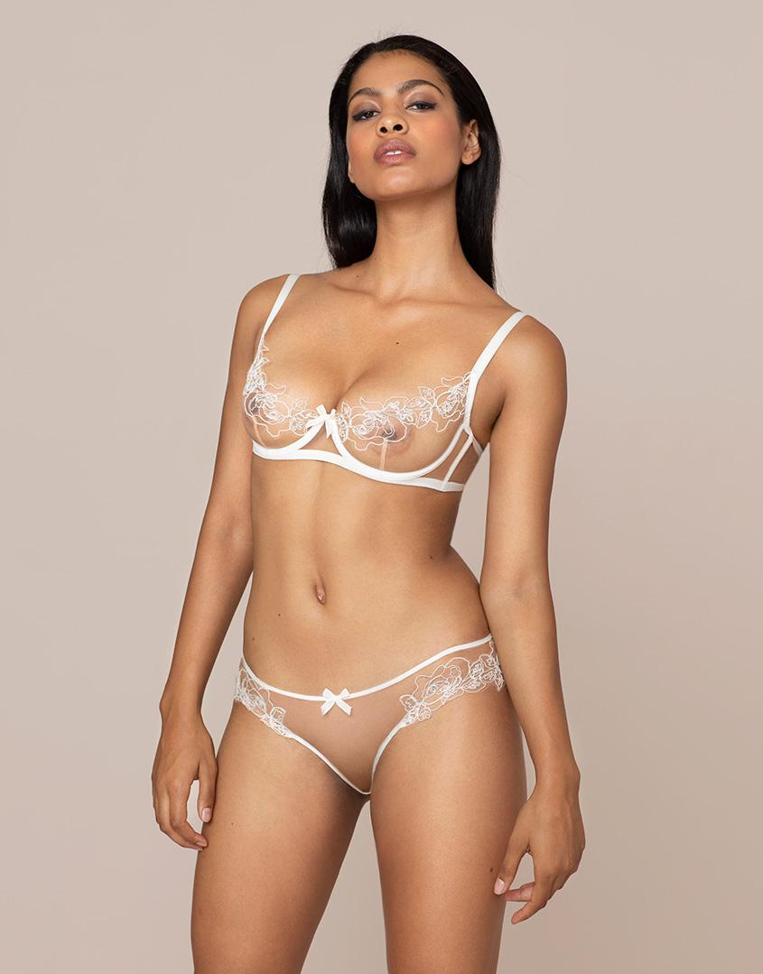 845b18de87 Agent Provocateur Lindie Brief Nude And Ivory in Natural - Lyst