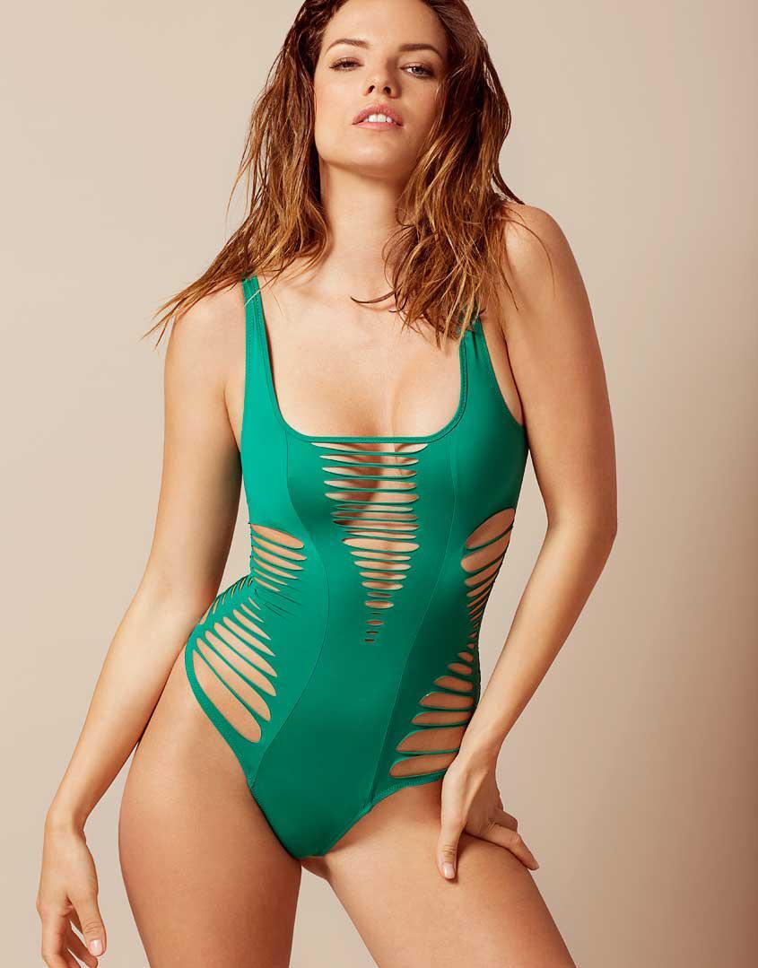 32ebf2ebe4 Lyst - Agent Provocateur Dakotta Cutout Swimsuit in Green
