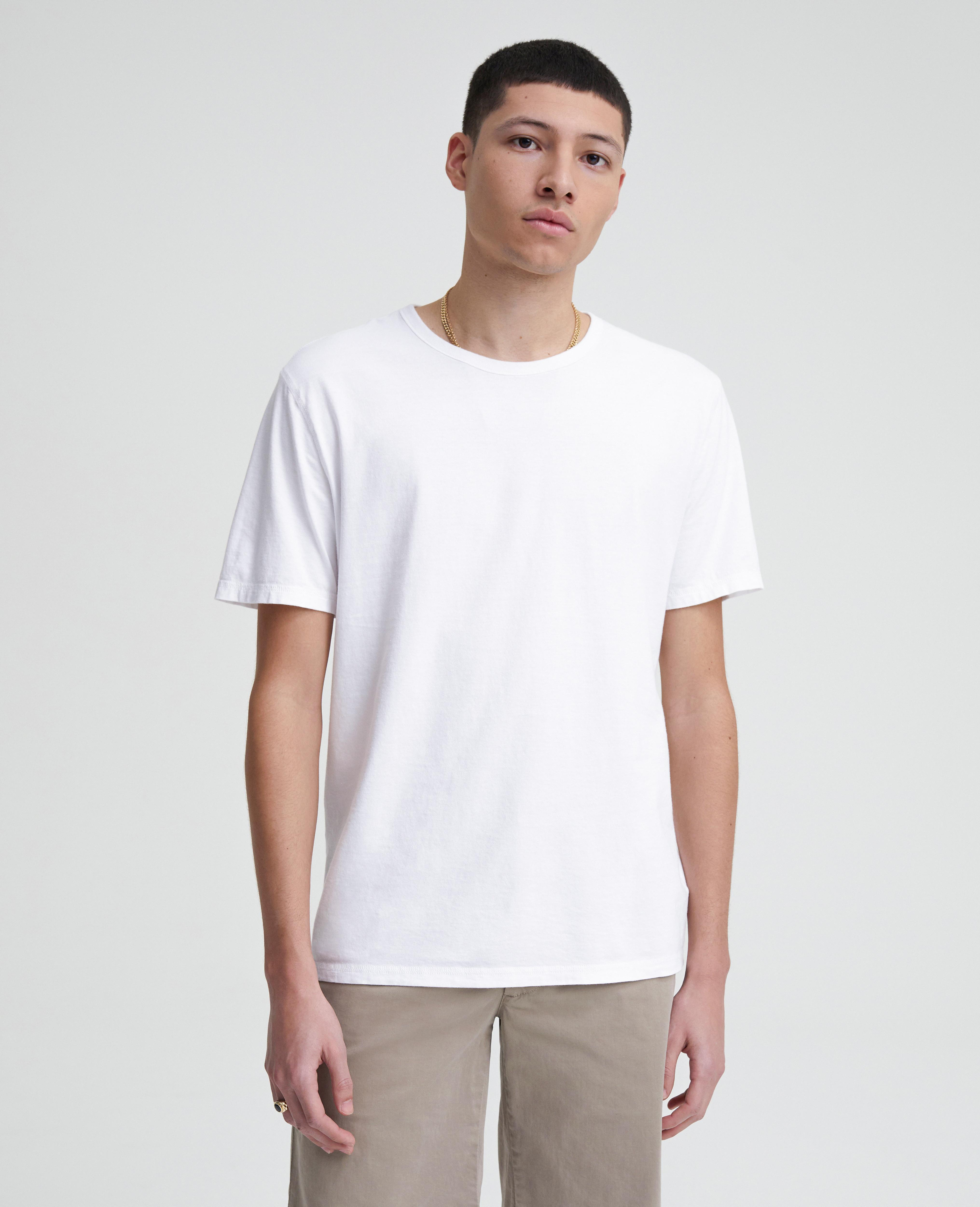 d663e92212 Lyst - AG Jeans The Anders Vintage Tee in White