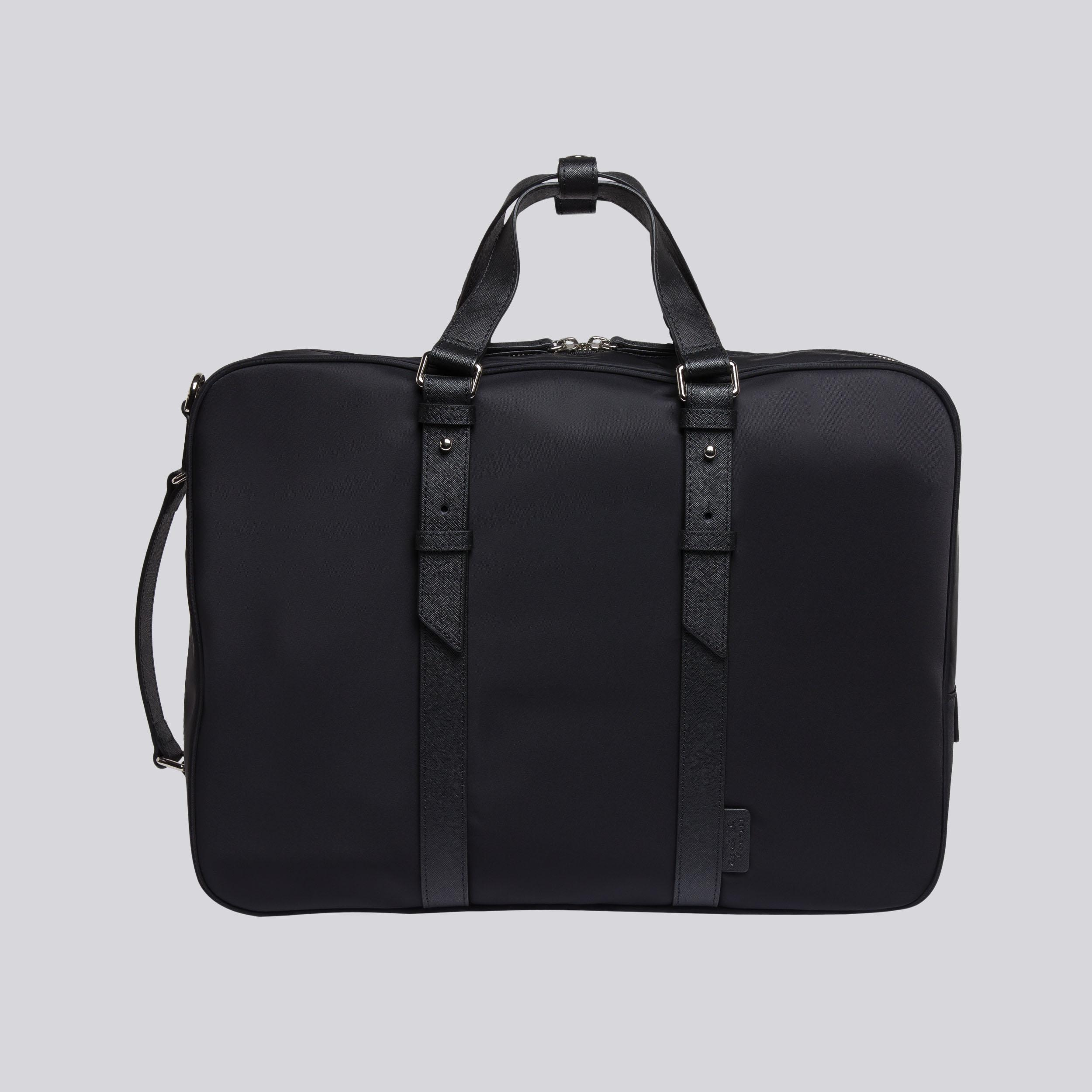 c38951fa194d Lyst - agnès b. Black Briefcase Convertible To Rucksack in Black for Men