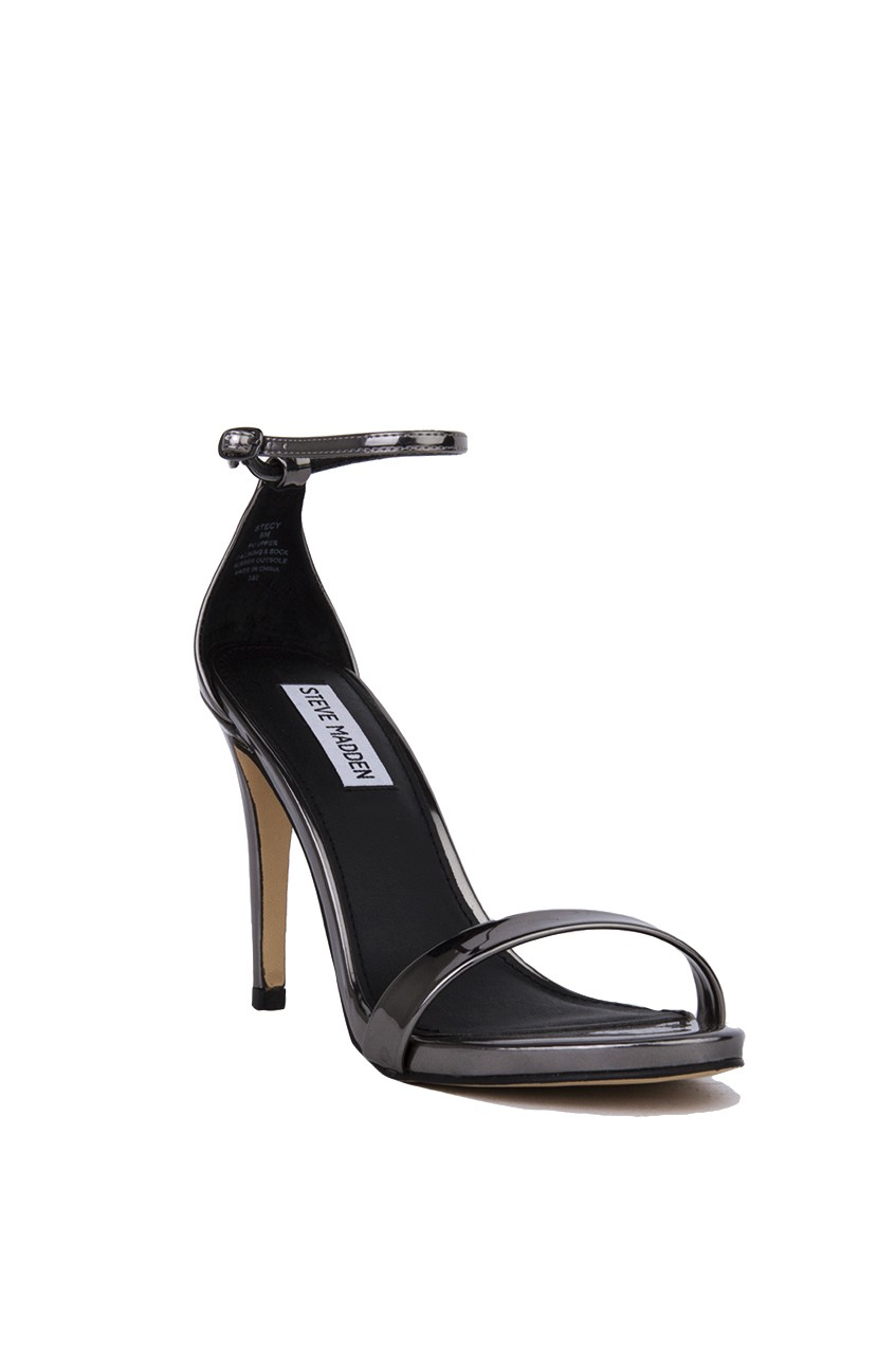 e0f59112a45 Steve Madden Stecy Ankle Strap Heeled Sandals - Pewter in Gray - Lyst