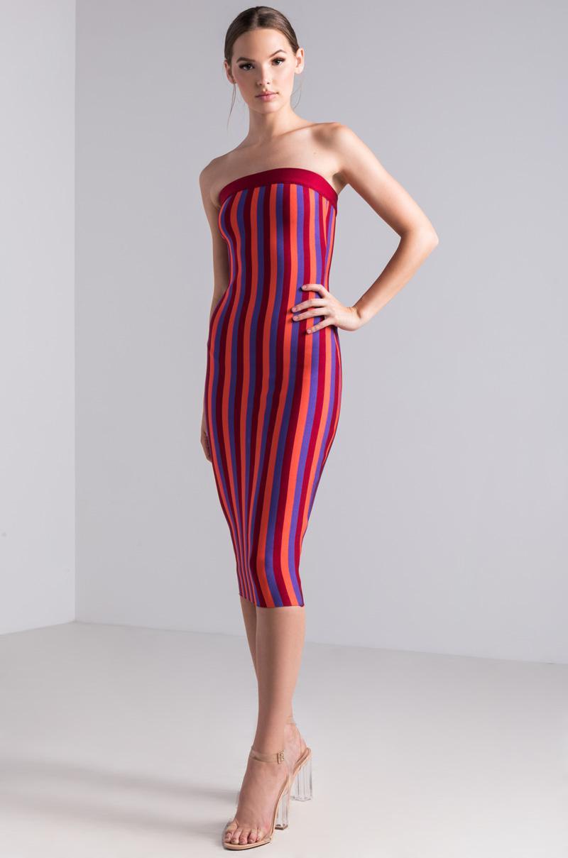 a057fbb25f Lyst - Akira Sweet Like Candy Bodycon Midi Dress in Red