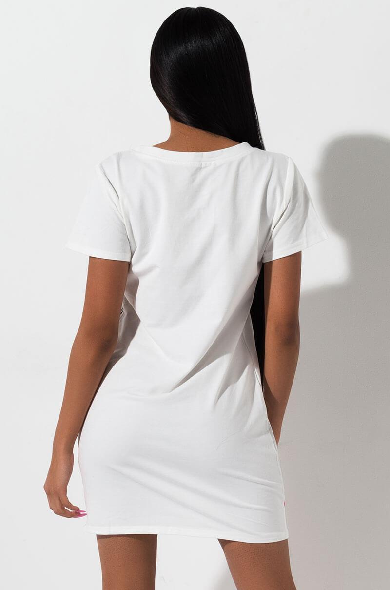 d8904427 AKIRA Rainbow T Shirt Dress in White - Lyst