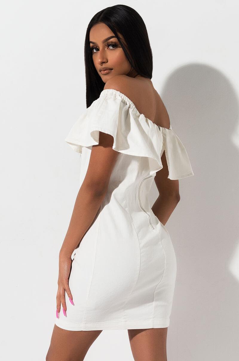 a3df099452e8 ... Hey There Strapless Denim Dress - Lyst. View fullscreen