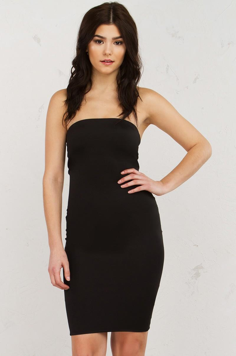 Lyst Akira Love You Long Time Tube Dress In Black