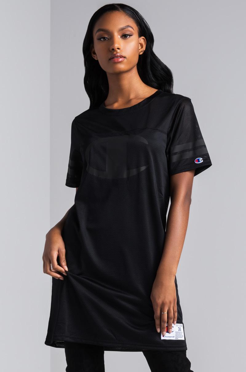 caa6f2fb Champion Mesh Jersey Dress in Black - Lyst
