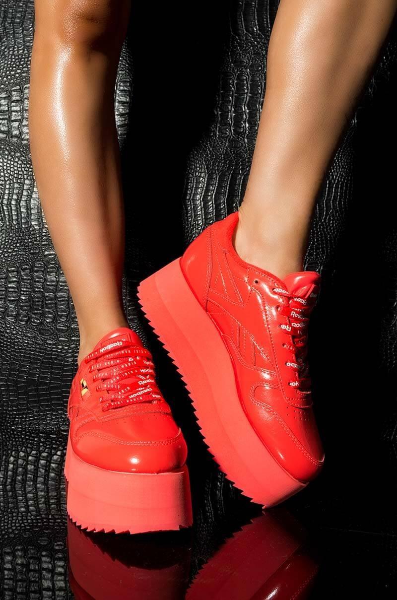 3e75153e9cae Lyst - Reebok X Gigi Hadid Triple Platform Sneakers in Red - Save 21%