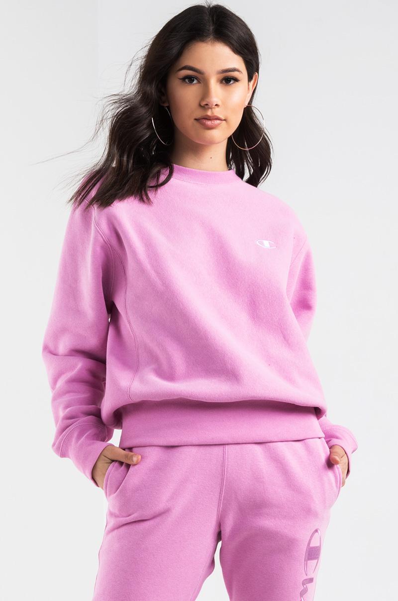 akira champion women's reverse weave crew sweatshirt in