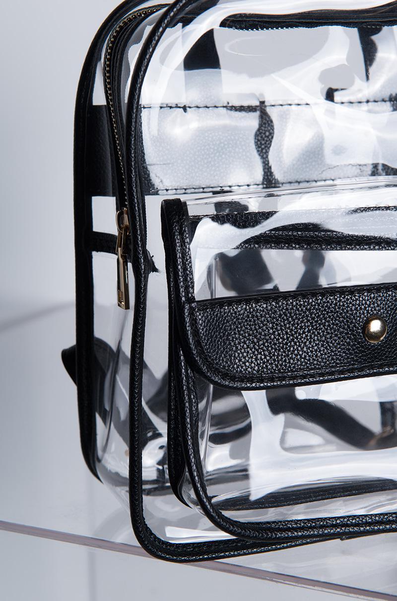 2e6b1134cf0c Lyst - Akira Take It Easy Clear Backpack in Black