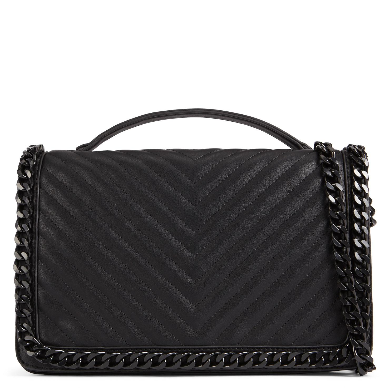 Aldo Greenwald Quilted Chain Handbag In Black Lyst