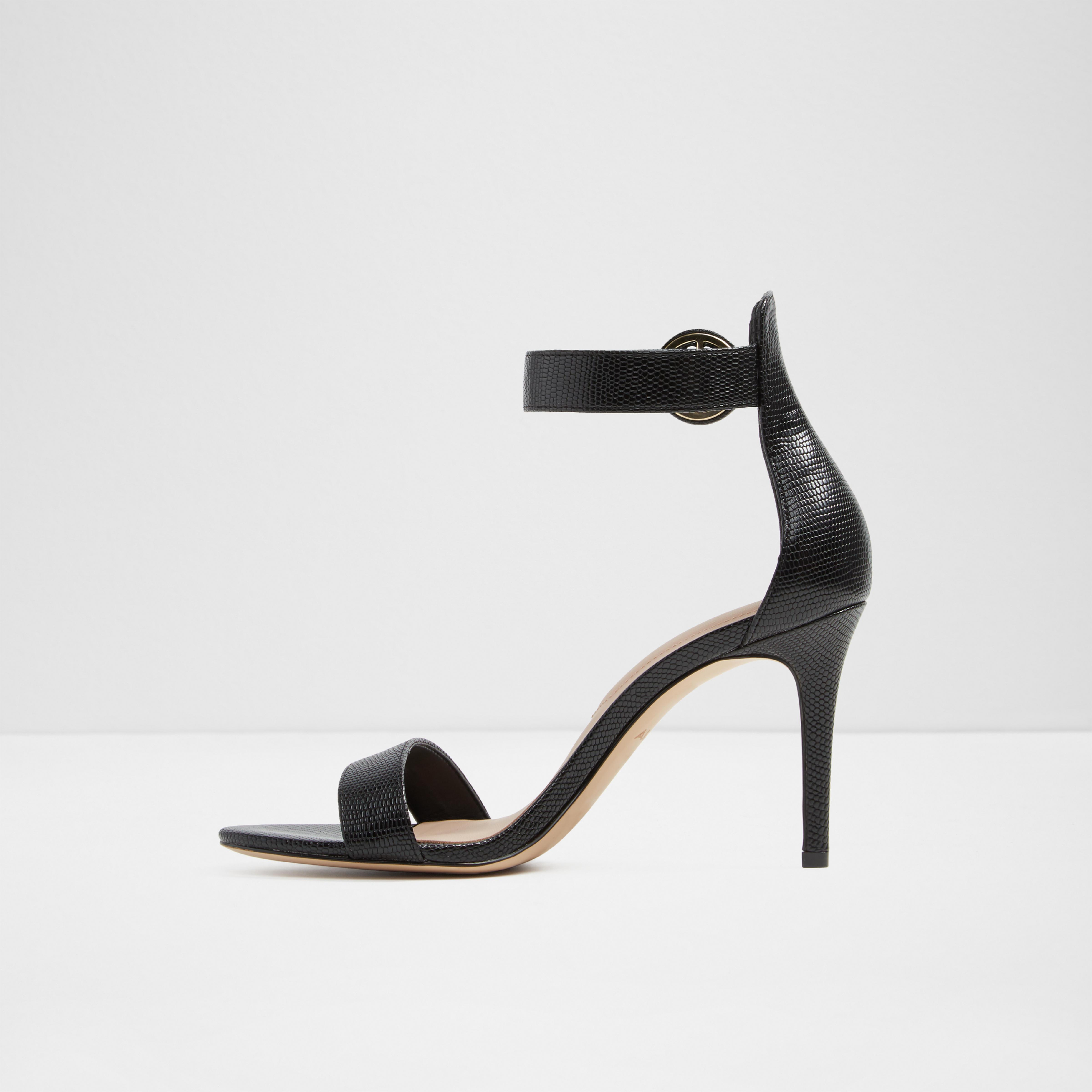 357d5df37ec6 ALDO - Black  yenalia  Stiletto Strappy Heeled Sandals - Lyst. View  fullscreen