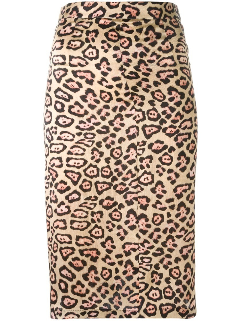 givenchy leopard print a line skirt in animal