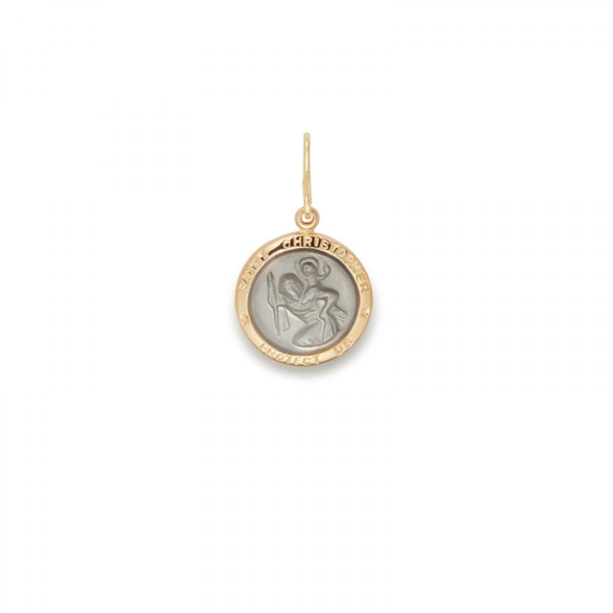 f535fd5b736 ALEX AND ANI. Women's Metallic Two Tone Saint Christopher Necklace Charm